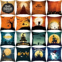 40 styles Halloween Christmas Decorative Pillow Peach skin velvet cushion cover sofa pillows home supplies business gift HWB10493