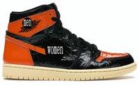 2021 الأحذية 1 الرجعية عالية محطمة الخلفية 3.0 الرجال / الاطفال أحذية كرة السلة أعلى جودة 1 ثانية أسود / شاحب الفانيليا النجم SBB البرتقال جلد الشباب GS الرياضة أحذية رياضية