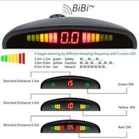 Car Rear View Cameras& Parking Sensors Sensor Kit With 4 Led Display Detector Security Alert System Accessories Voice Reverse Backup Radar M
