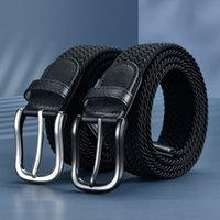 belts No holes and no men's woven elastic canvas women's versatile