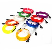 1-10M EL Wire Neon Light Novelty LED Lamp Flexible Rope Tube Strip String Car Decoration With 6mm Sewing Strips