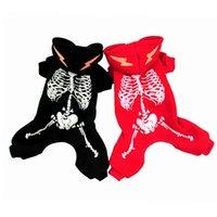 5 size Dog Apparel luminous dinosaur skeleton Pet clothes dog halloween costume Supplies 2 color T2I52412