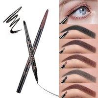 PRO 2 in 1 Double Ended Eyebrow 연필 속눈썹 펜 자연 지속이 아닌 부드러운 3D 메이크업 화장품 도구 아이 라이너