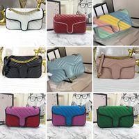 443497 Mujeres Lujos Diseñadores Hilo de coser Hilo Bolsos de hombro Moda Bolso de cuero Mujer Hebilla Cadena Cadena Crossbody Bag Denim Almacenamiento Totes Monedero Monedero