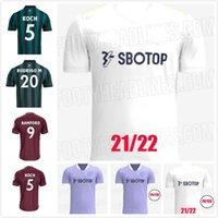 الرجال Kids Kit Leeds Soccer Jersey United 21 22 Harrison Hernandez Costa Bamford Alioski Clarke 2021 قميص كرة القدم
