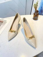 Women High Heels Gucci Dress Shoes Fashion Sexy Wedding Pointed Rivet Slippers Available in a variety of Sandal Colors With box size 35-40 7.5cm #18