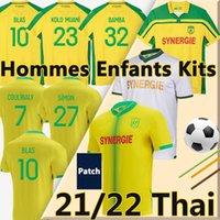21/22 Nantes FC 8eme Etoile Futbol Formaları 2000-01 Şampiyonlar 2021 2022 Maillots De Ayak Blas Bamba Simon Coulibaly Kolo Muani Girotto Erkekler + Çocuklar Kiti Futbol Gömlek