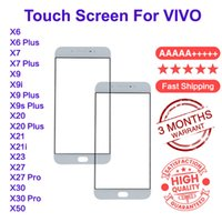 Front Outer Touch Screen Glass Lens Replacement For Vivo X6 X7 X9 X9s X20 X21 Plus X9i X2i X23 X27 X30 Pro X50