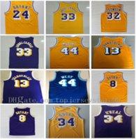 Yeni Dikişli # 34 o Neal Jersey 73 # Rodman Shaquille # 33 Kareem Abdul Jabbar Jersey 13 # Wilt Chamberlain Jerry 44 # Batı Basketbol Formaları