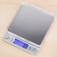 Échelle électronique numérique dit 0.01g Bijoux de poche de poche Pesée de la cuisine Boulangerie LCD Écailles d'affichage 1kg / 2kg / 3kg / 0,1G 500g / 0.01G