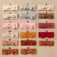 Vintage Baby Bandeau pour filles Cheveux Bows Head Impression Enfants Coton Coton Turban Bandes de poils pour enfants 1018 Y2