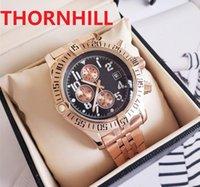 Multifunctional mens watch quartz battery waterproof black technology stainless steel business trend menes highend watches