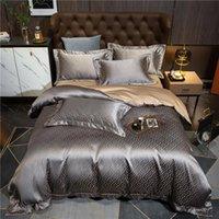Bettwäsche-Sets Luxus 1200tc Baumwolle Set Queen King Bettbezug Bettsheet Duvet 4pcs Parure de Lit