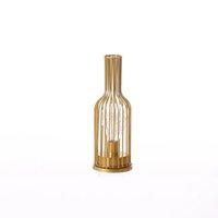 LED Night Light Romantic Copper Wire Star Table Lamp Battery Lights Home Bedroom Gold Wine bottle