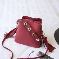 Messenger bags Women Bucket Shoulder Bag large capacity vintage Matte PU Leather lady handbag Luxury Designer bolsos mujer Black