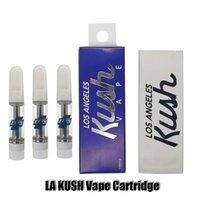 La Kush Vape Cartucho Atomizers Embalagem 0.8ml 1.0ml Cartins de Cerâmica Los Angeles Cartuchos de Óleo Espesso Pen para 510 Thread Battery
