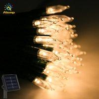 أدى سلاسل بطارية تعمل بالطاقة الشمسية تعمل 12 متر 100 المصابيح 8 أوضاع العمالة فقاعة سلسلة ضوء ل حفل زفاف عيد الميلاد الديكور