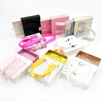 25mm Mink Eyelashes Box Pull-out ribbon False Eyelash Packaging Empty Lash Case Marble Dollar Design 3D Lashes Cases Boxes Bulk