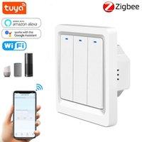 Smart Home Control ZigBee Switch Lavoro con Alexa Google Assistant 2mqSup UE 110 V 220 V 10A Controller a pulsante luminoso