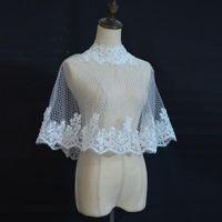 Wraps & Jackets Fashion Exquisite Crystal 2021 Ivory Big Lace Edge Bridal Boleros Women Ladies Wedding For Party Christmas