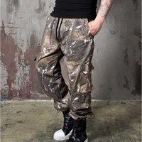 Poches latérales pour hommes Cargo Harem 2021 Hip Hop Homme Joggers Mâle Japonais Pantalon en vrac Fashion Casual Streetwear Pants