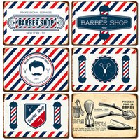 Barber shop Metal Sign Vintage Tin Sign Plaque Metal Vintage Wall Decor for barber shop Retro Metal Posters Iron Painting