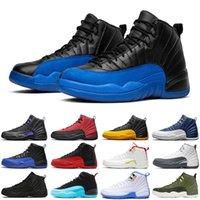 الأزياء الظلام كونكورد 12 12 ثانية jumpman الرجال أحذية كرة السلة العكسي لعبة الانفلونزا الجامعة الأزرق الذهب الملكي رجل المدربين الرياضة أحذية رياضية الحجم 7-13