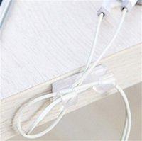 Nuevo Cord Winder Home Office Organizer Alambre de fijación de la abrazadera Cargador de almacenamiento Cable Soporte de cable Conjunto de escritorio Suministros 520 R2
