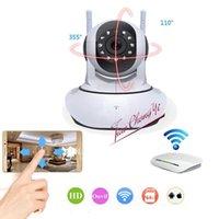 Wi-Fi net câmera móvel telefone inteligente rede monitor interior levou tiras