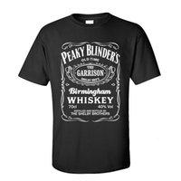 Peaky Blinders Whisky Curto Mouw Dia do Pai O-pescoço Cato Tops Chás Para Homens T-shirt Gráficos Personalizados