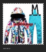Thick Warm Ski Suit Women Waterproof Windproof Skiing Snowboarding Jacket Pants Set Female Snow Costumes Outdoor Wear Warm1