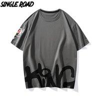 T-shirt de t-shirt de grande estrada do homem da estrada 2021 impressão superior do verão camisetas Harajuku 100% algodão camiseta masculino cinzento camiseta para os homens