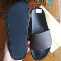 Женщина / мужские сандалии тапочки туфли тапочки высокого качества сандалии повседневная обувь плоский слайд ес: 35-45 с коробкой 01