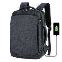 Backpack 15.6 Inch Laptop Mens Business Notebook Mochila Waterproof Back Pack USB Charging Bag Travel Bagpack 2021 Male