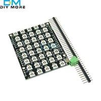 모듈 8x5 40 LED 매트릭스 WS2812 RGB Arduino 용 풀 컬러 드라이버 보드