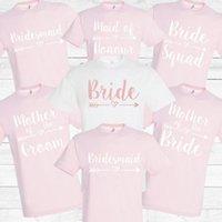 Women's T-Shirt Bachelorette Party Shirts, Bride Squad Tshirts, Bridesmaid Hen Bridal