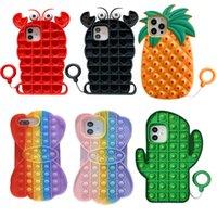 2021 Speelgoed Push Bubble Phone Cases voor iPhone 12 11 PRO MAX X XS XR 7 Plus 8 Relive Stress Relief Fidget Speelgoed Zachte Siliconen Gel Cover W1122
