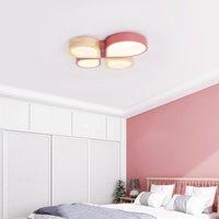 Tavan Işıkları Nordic Yatak Odası Lambası Dört Yapraklı Yonca Çocuk Odası Erkek Kız Sıcak