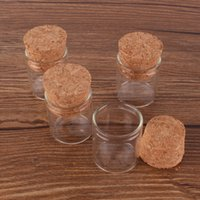22*25mm 4ml Small Glass Bottles Test Tube with Cork Stopper Empty Transparent Clear DH20