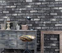 Wallpapers Vintage Brick Stripes 3D Panel Wall Stickers Dwaterproof Water Foam Border Decals Living Room Bedroom Decor Home Wood