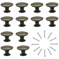 Handles & Pulls 12Pc Vintage Cupboard Drawer Door Knobs Round Cabinet Handle Furniture Hardware For Cabinets And Drawers
