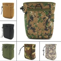 Outdoor Sports Airsoft Gear Molle recycling Bag Combat Hiking Hunting Bags Vest Accessory Camouflage Recycle Belt wasit Pack Tactical Dump Pouch