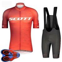 Jersey de ciclismo para hombre Juego de jersey de verano Scott Equipo de manga corta camisas babero pantalones cortos trajes de bicicleta de secado rápido uniforme de bicicleta Tamaño de la ropa XXS-6XL S041405