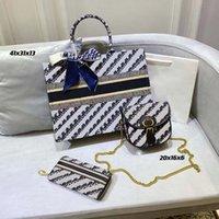 Designer de luxo de alta qualidade Mulheres de 3 peças de mão 3 peças bolsas de moda saco de combinação de capacidade grande portátil Multi-função diária mochila 0012