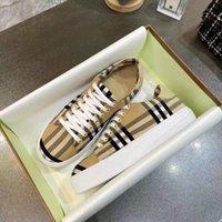 Mens Check Sneakers Womens Espadrilles Designer Designer Cotton Canvas Scarpe casual in nylon Basso Piattaforma di gomma Runner Trainer Sneaker Size 35-45 no288
