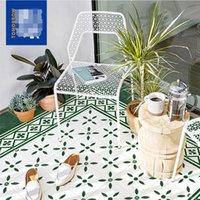 Verde fresco pequeño azulejo flor ladrillo cocina baño retro pared ladrillos balcony tienda mosaico piso azulejos