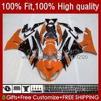 Kawasaki Ninja ZX 6R 600 CC 6 R 636 09 10 11 12 13NO.76 ZX636 ZX-636 600CC 2009 2011 2011 2012 ZX-6R ZX600C 2009-2012 OEM Faireingsオレンジ色光沢