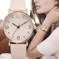 Luxo Lazer Relógio de Pulso Feminino Couro Feminino Relógio Liga Mulher Mulher Design Estilo Novo Relógios Moda Casual Simples Big Dial Quartz Clock Dress Relógios de Relógios