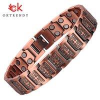 Oktrendy Copper Magnets Bracelets Men Bracelet Metals Healing Magnetic Cross Jesus Christ Polar Band Jewelry Wholesale