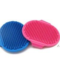 개 목욕 브러시 빗 실리콘 애완 동물 스파 샴푸 마사지 브러쉬 샤워 헤어 제거 빗에 대 한 청소 도구 DWE10363